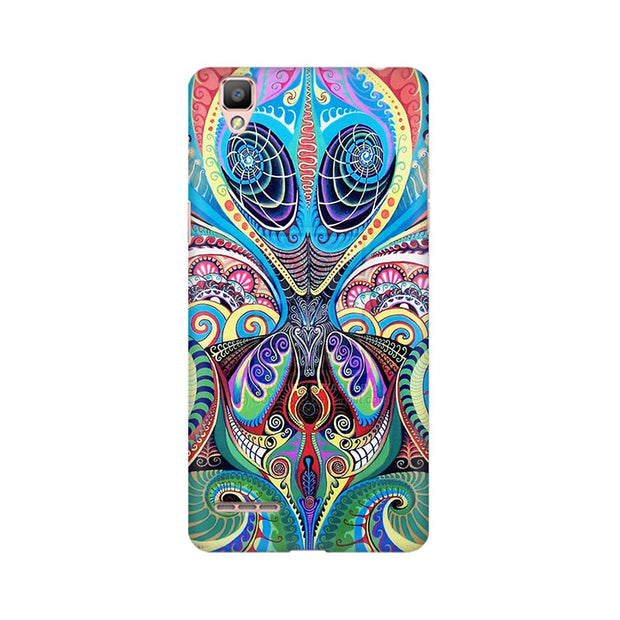 Oppo F1 Psychedelic Alien Phone Cover & Case
