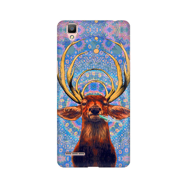 Oppo F1 Smoking Deer Phone Cover & Case