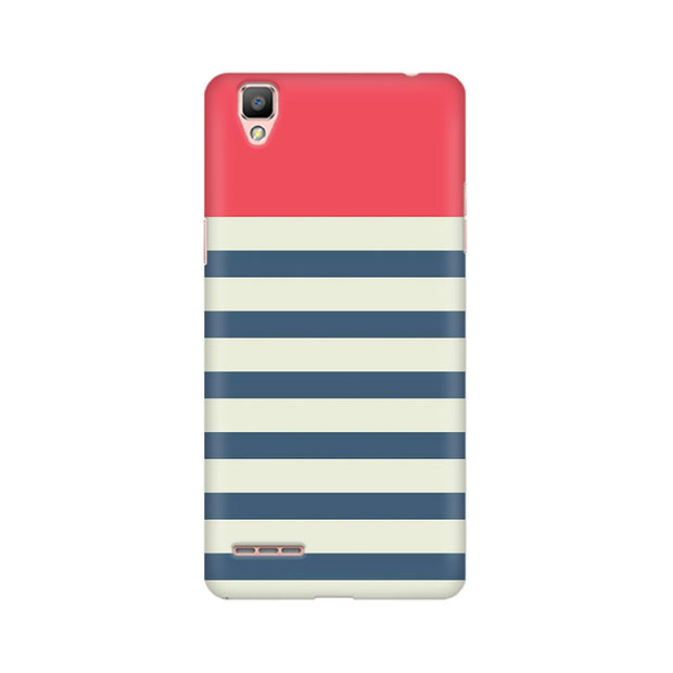Oppo F1 Stripes Pink Phone Cover & Case