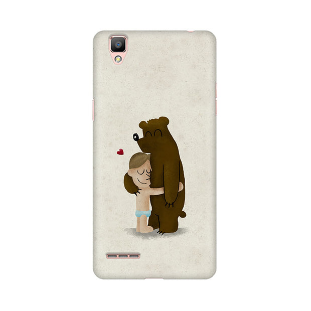 Oppo F1 Plus Bear Hug Phone Cover & Case