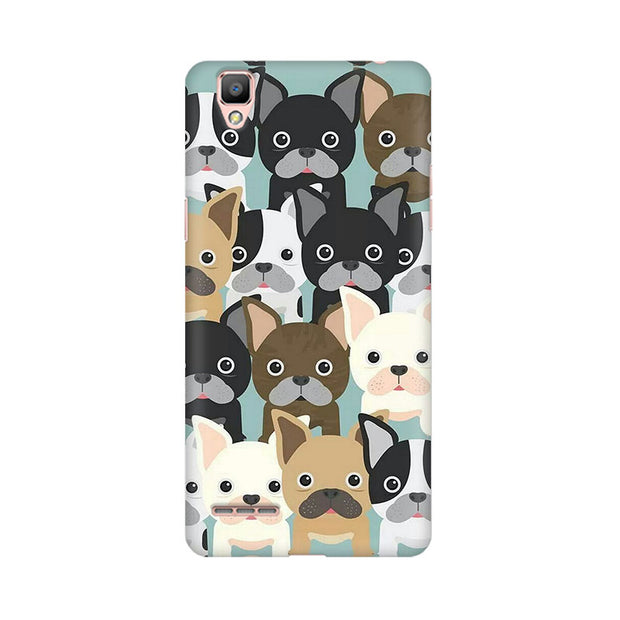 Oppo F1 Plus Dog Family Cluster Phone Cover & Case