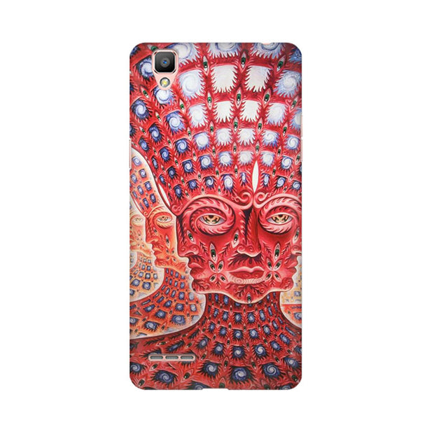 Oppo F1 Plus Psychedelic Faces Phone Cover & Case