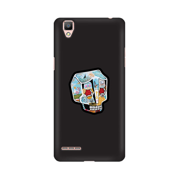 Oppo F1 Plus Skull Cartoon Phone Cover & Case