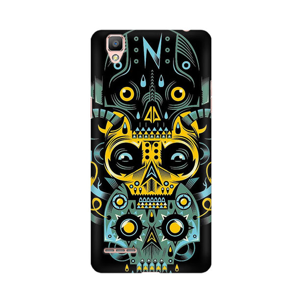 Oppo F1 Plus Three Skulls Phone Cover & Case