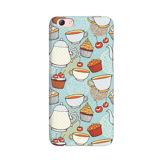 Oppo F3 Plus Cakes And Tea Phone Cover & Case