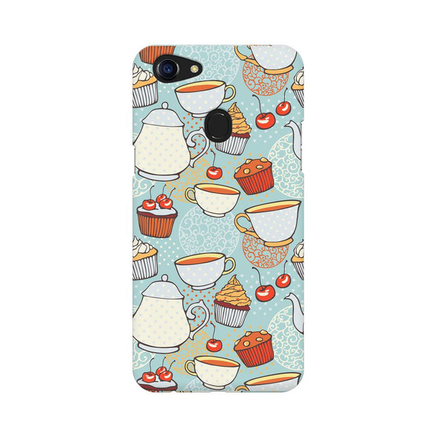 Oppo F5 Cakes And Tea Phone Cover & Case