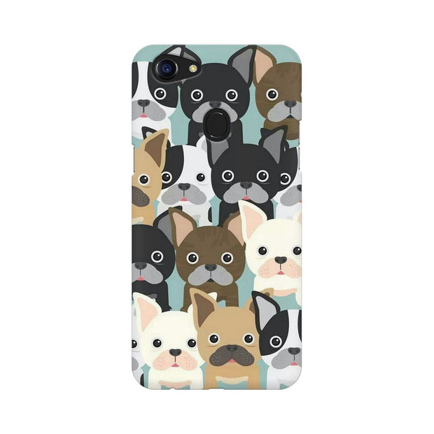 Oppo F5 Dog Family Cluster Phone Cover & Case