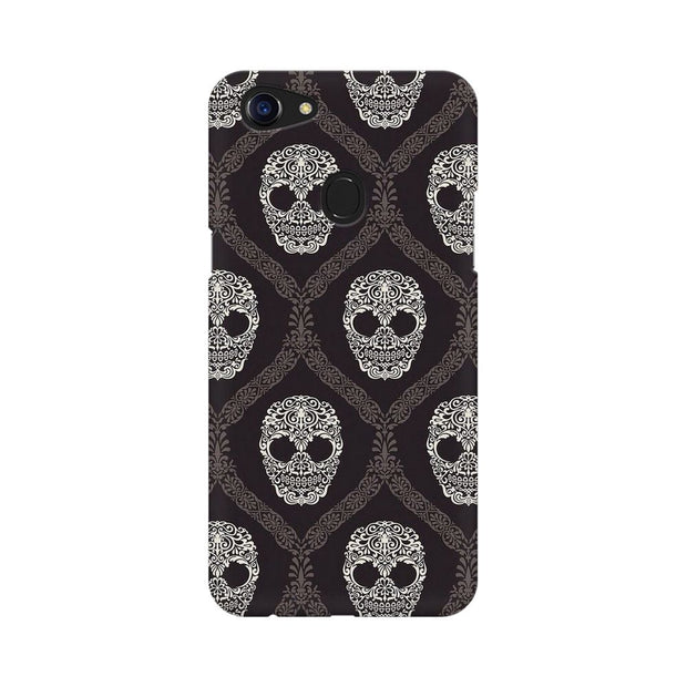 Oppo F5 Floral Skull 2 Phone Cover & Case
