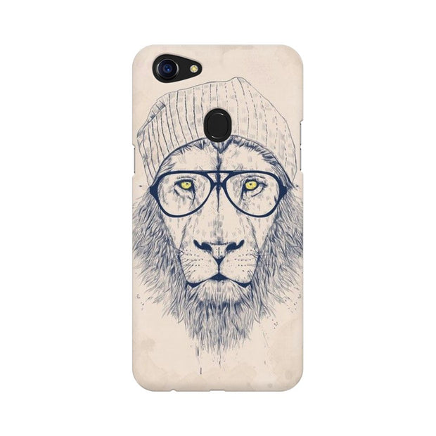 Oppo F5 Lion With Glasses Phone Cover & Case