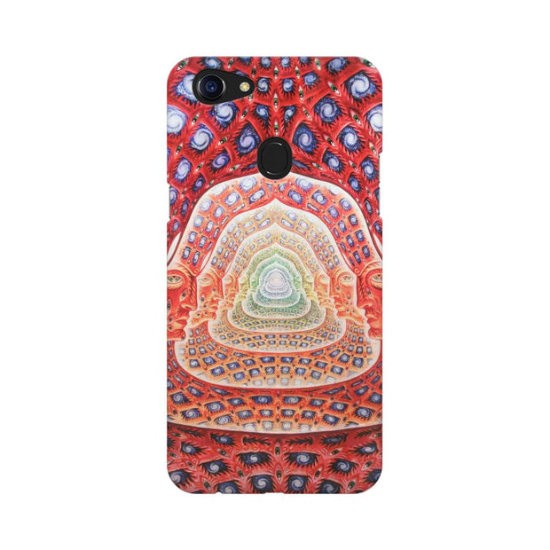 Oppo F5 Psychedelic Faces On The Wall Phone Cover & Case