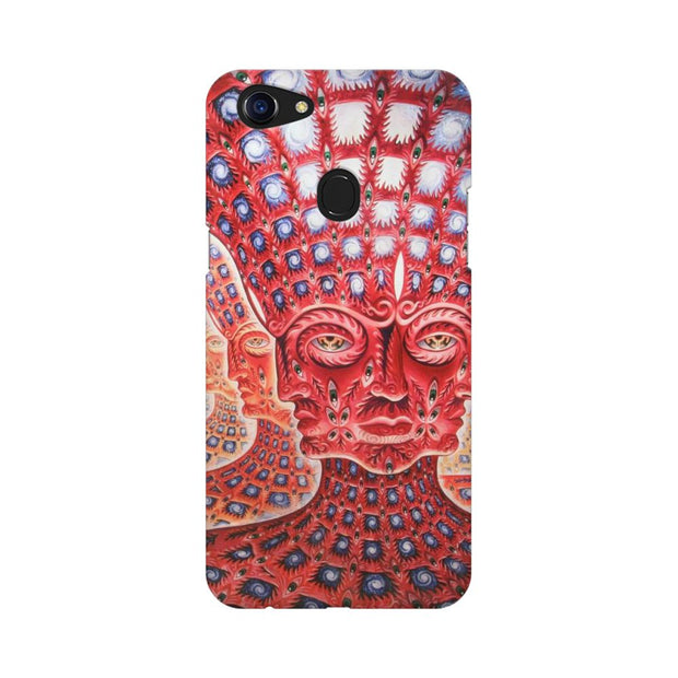 Oppo F5 Psychedelic Faces Phone Cover & Case