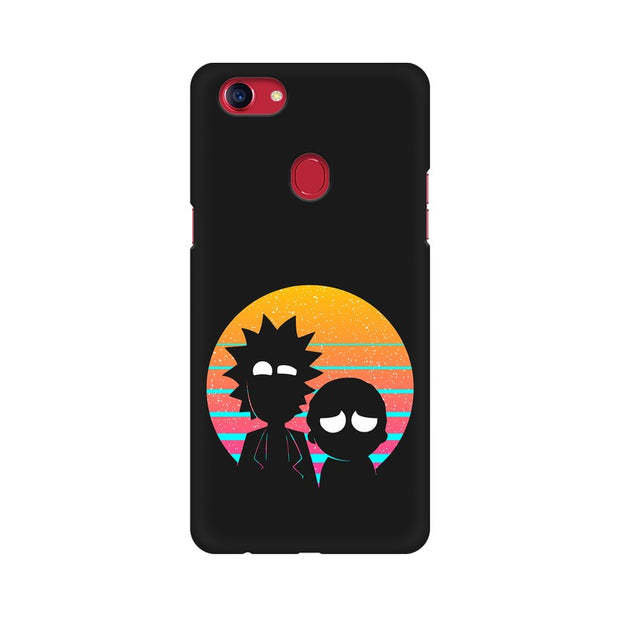 Oppo F7 Rick & Morty Outline Minimal Phone Cover & Case