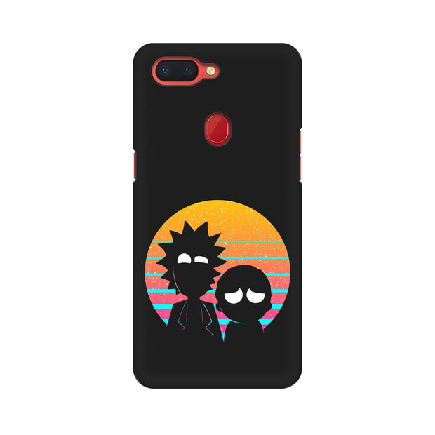 Oppo R15 Pro Rick & Morty Outline Minimal Phone Cover & Case