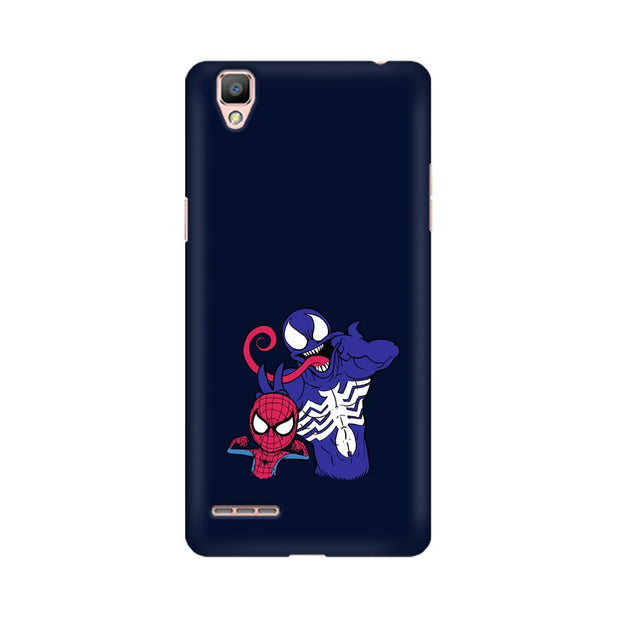 Oppo R9 Spider Man & Venom Funny Phone Cover & Case