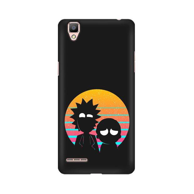 Oppo R9 Rick & Morty Outline Minimal Phone Cover & Case