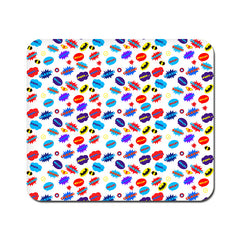 Large All Superheroes on white clipart Mousepad