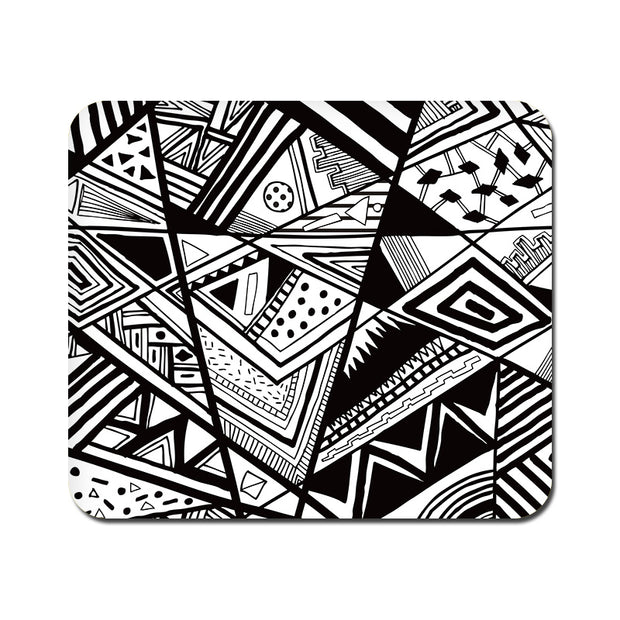 Large Black and White Abstrct Mousepad