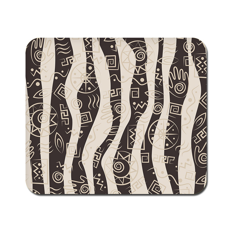 Large Abstract Tribal Wave Mousepad