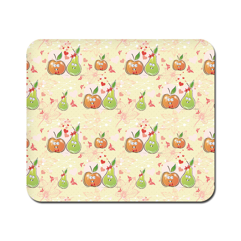 Large Apple and Pear Mousepad