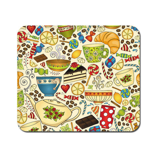 Large Abstract Tea Party Mousepad