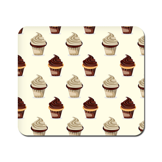 Large Black and White Cupcakes Mousepad