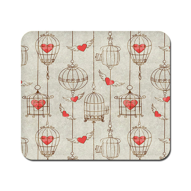 Large Cage of Love Mousepad