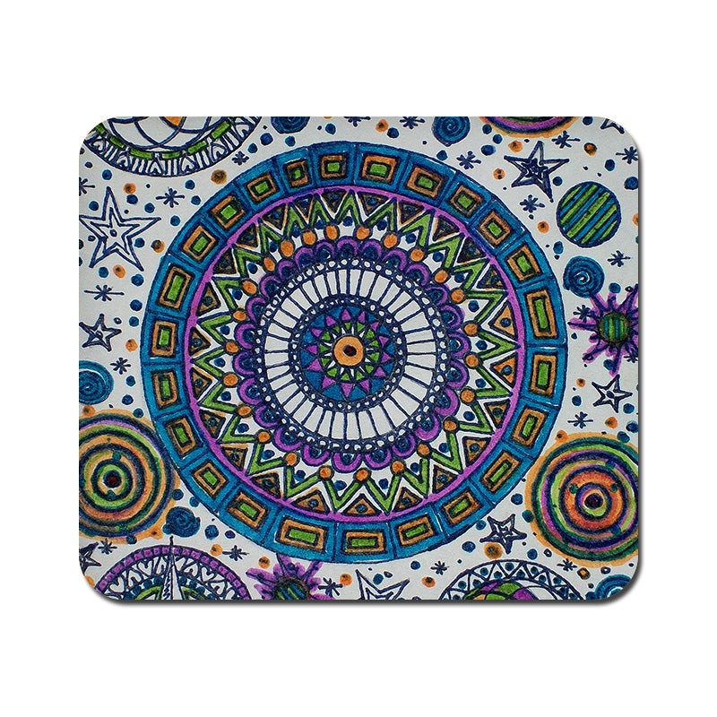 Large Abstract Colorful Mousepad