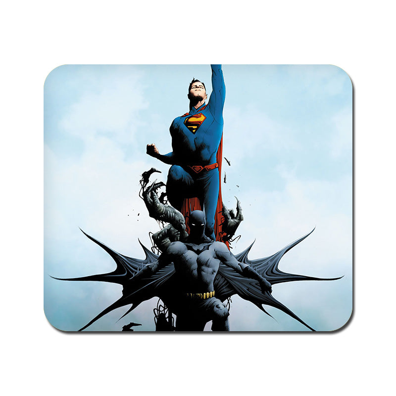 Large Batman vs Superman Comic Mousepad