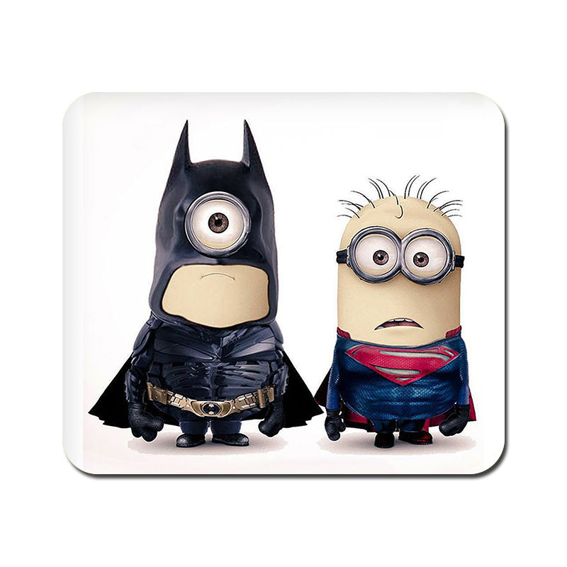 Large Batman vs Superman Minions Mousepad