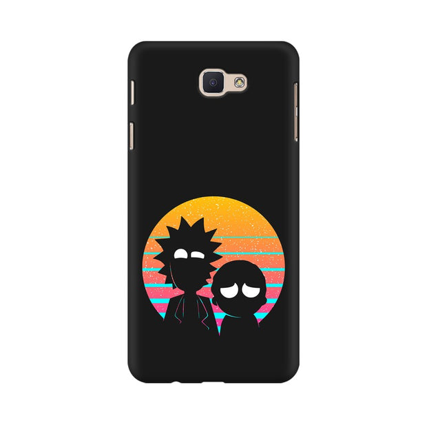 Samsung J5 Prime Rick & Morty Outline Minimal Phone Cover & Case
