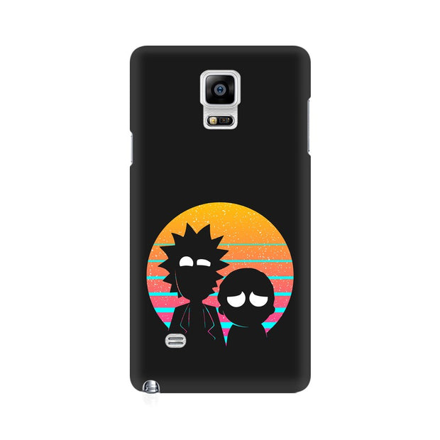 Samsung Note 4 Rick & Morty Outline Minimal Phone Cover & Case