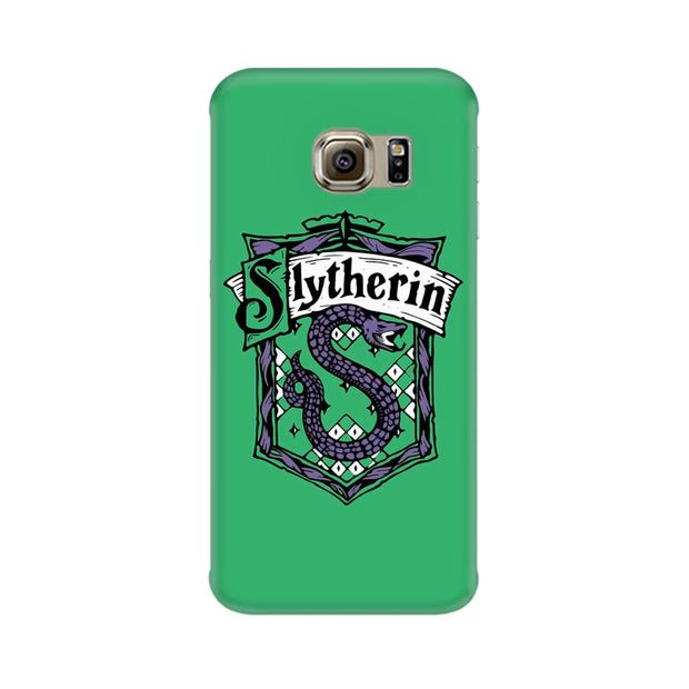 Samsung S6 Edge Slytherin House Crest Harry Potter Phone Cover & Case