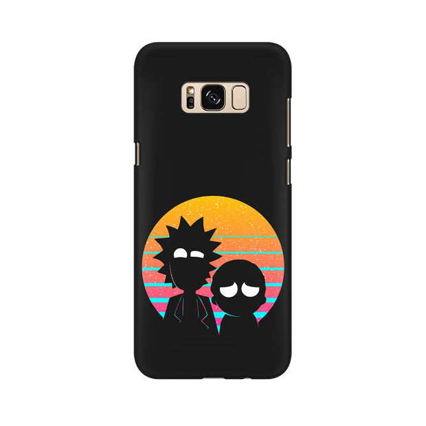 Samsung S8 Plus Rick & Morty Outline Minimal Phone Cover & Case