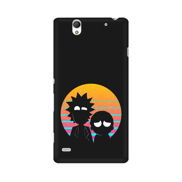 Sony Xperia C4 Rick & Morty Outline Minimal Phone Cover & Case