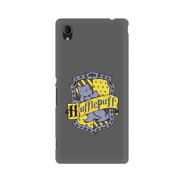 Sony Xperia M4 Aqua Hufflepuff House Crest Harry Potter Phone Cover & Case