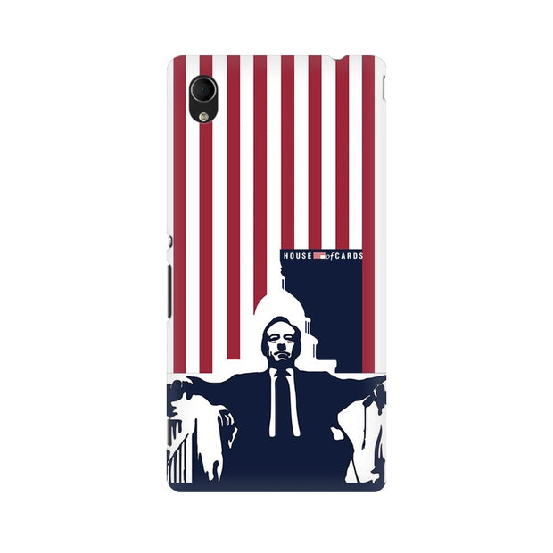 Sony Xperia M4 Aqua House Of Cards Underwood On Chair Phone Cover & Case