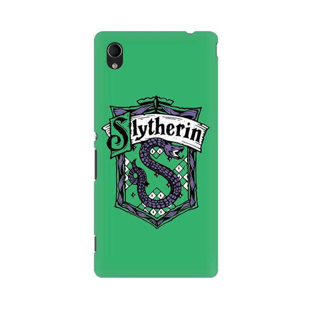 Sony Xperia M4 Aqua Slytherin House Crest Harry Potter Phone Cover & Case