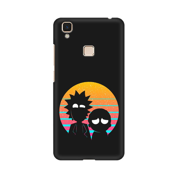 Vivo V3 Max Rick & Morty Outline Minimal Phone Cover & Case