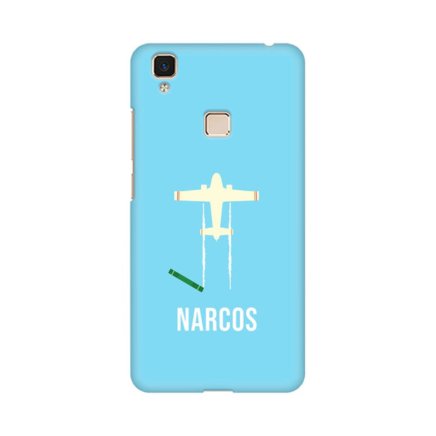Vivo V3 Max Narcos TV Series  Minimal Fan Art Phone Cover & Case