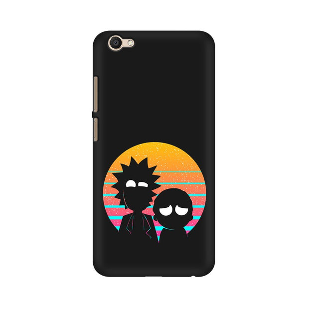 Vivo V5s Rick & Morty Outline Minimal Phone Cover & Case