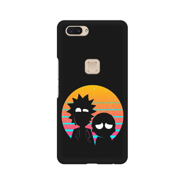 Vivo X20 Rick & Morty Outline Minimal Phone Cover & Case