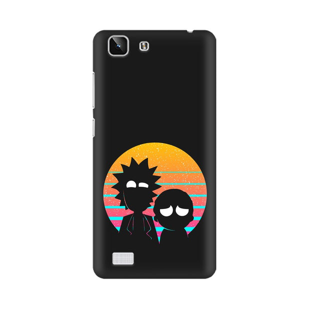 Vivo X5 Rick & Morty Outline Minimal Phone Cover & Case