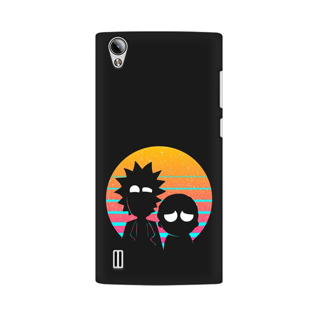 Vivo Y15 Rick & Morty Outline Minimal Phone Cover & Case