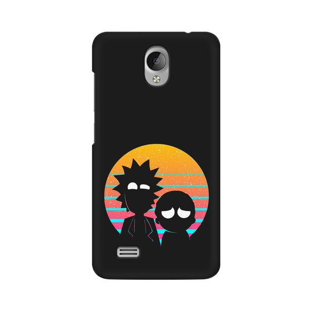 Vivo Y21L Rick & Morty Outline Minimal Phone Cover & Case
