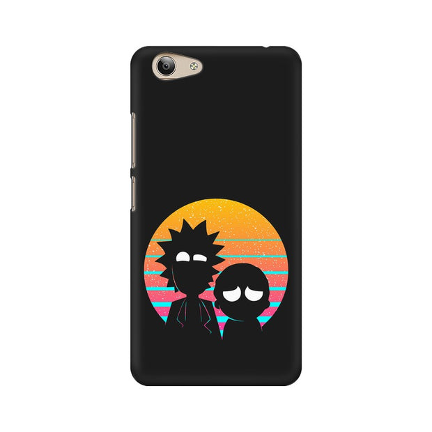 Vivo Y53 Rick & Morty Outline Minimal Phone Cover & Case