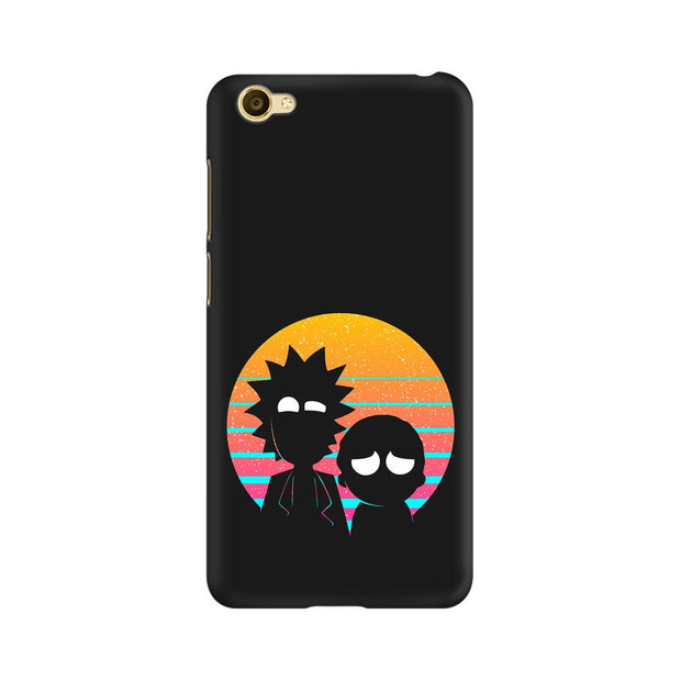 Vivo Y55L Rick & Morty Outline Minimal Phone Cover & Case