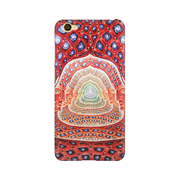 Vivo Y67 Psychedelic Faces On The Wall Phone Cover & Case