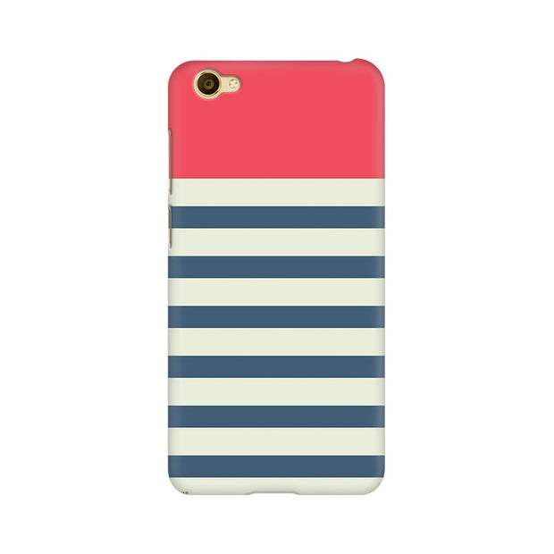Vivo Y67 Stripes Pink Phone Cover & Case