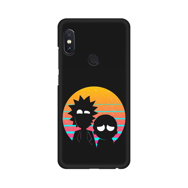 Xiaomi Redmi Note 5 Pro Rick & Morty Outline Minimal Phone Cover & Case