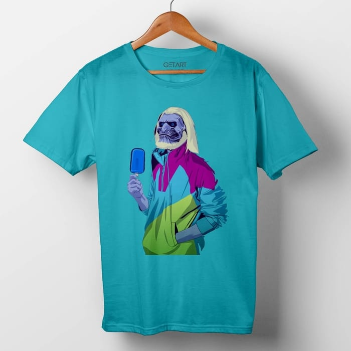 White Walker Dude half sleeve round neck printed t shirt
